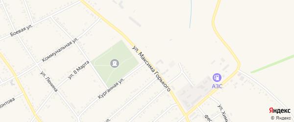 Улица М.Горького на карте Гиагинской станицы с номерами домов