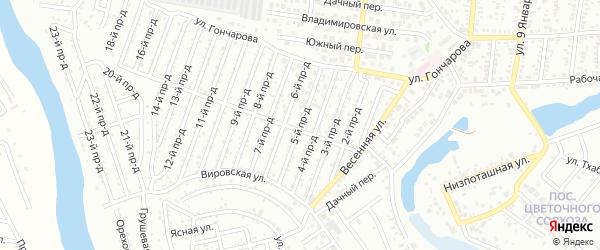 5-й проезд на карте садового некоммерческого товарищества Весны с номерами домов
