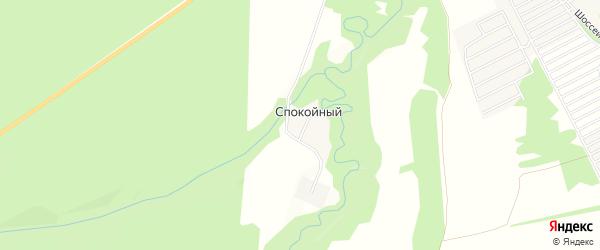 Карта Спокойного поселка в Адыгее с улицами и номерами домов