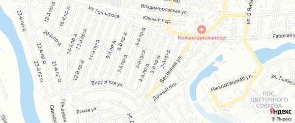 4-й проезд на карте садового некоммерческого товарищества Виктории с номерами домов