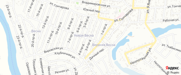 3-й проезд на карте садового некоммерческого товарищества Проектировщика с номерами домов