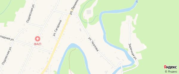 Улица Чкалова на карте Курджипской станицы с номерами домов