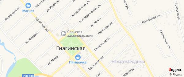 Улица им З.Г.Наконечного на карте Гиагинской станицы с номерами домов