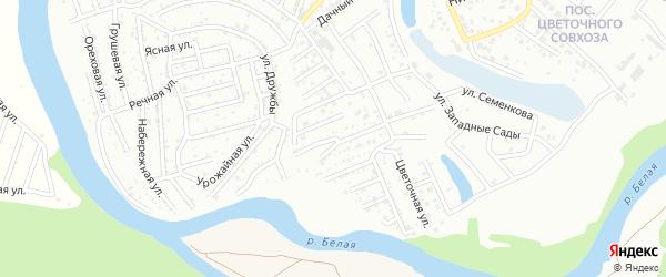 Сосновая улица на карте садового некоммерческого товарищества Дружбы с номерами домов