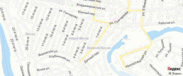 2-й проезд на карте садового некоммерческого товарищества Надежды с номерами домов