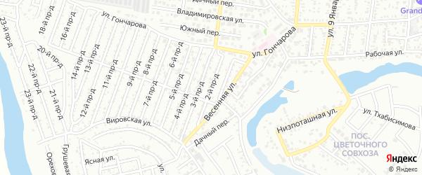 2-й проезд на карте садового некоммерческого товарищества Проектировщика с номерами домов