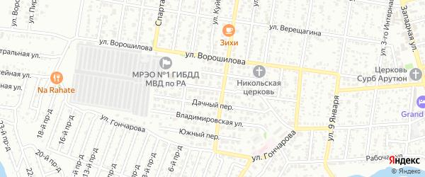 Новая улица на карте Майкопа с номерами домов
