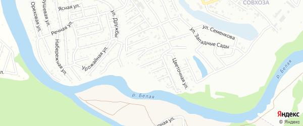 Вузовская улица на карте садового некоммерческого товарищества Сада с номерами домов