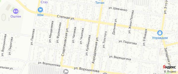 Улица Куйбышева на карте Майкопа с номерами домов