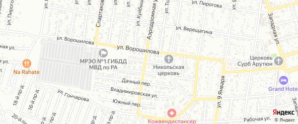 Новый переулок на карте Майкопа с номерами домов