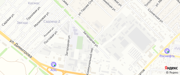 Загородняя улица на карте садового некоммерческого товарищества Джанатана с номерами домов
