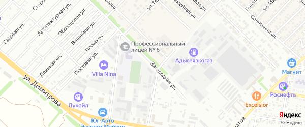 Загородная улица на карте Майкопа с номерами домов