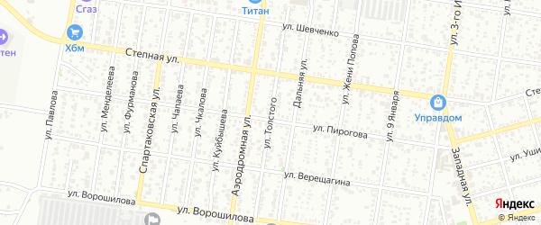 Улица Толстого на карте Майкопа с номерами домов