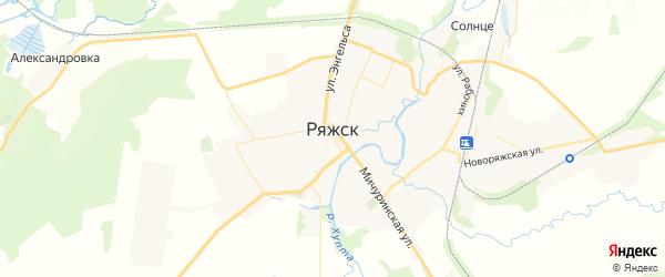 Карта Ряжска с районами, улицами и номерами домов