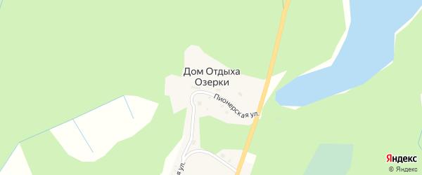 Пионерская улица на карте деревни Дом отдыха Озерки с номерами домов