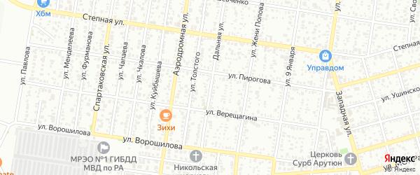 Дальняя улица на карте Майкопа с номерами домов