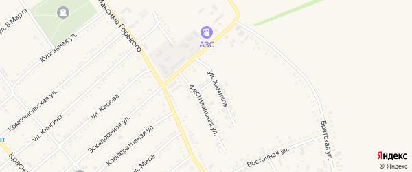 Нечетная улица на карте Гиагинской станицы с номерами домов