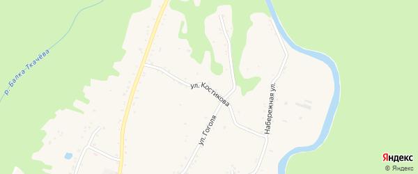 Улица Костикова на карте Курджипской станицы с номерами домов