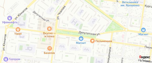 Депутатская улица на карте Майкопа с номерами домов