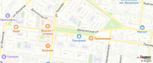 Бульвар Победы на карте Майкопа с номерами домов