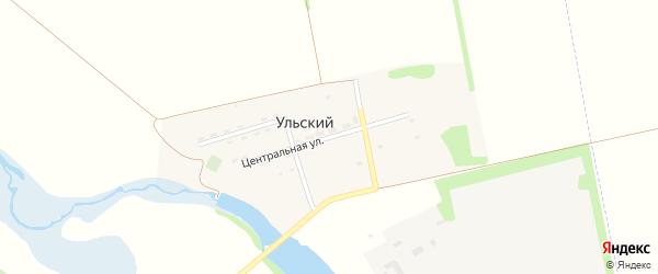 Центральная улица на карте Ульского поселка с номерами домов
