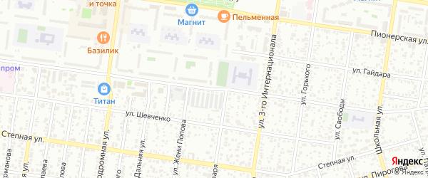 Улица 12 Марта на карте Майкопа с номерами домов
