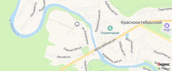 Улица Калинина на карте Краснооктябрьского поселка с номерами домов