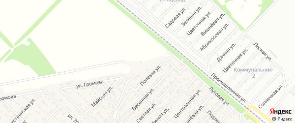 Конечный переулок на карте Западного поселка с номерами домов