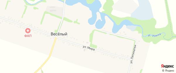 Улица Пятихатки на карте Веселого хутора с номерами домов