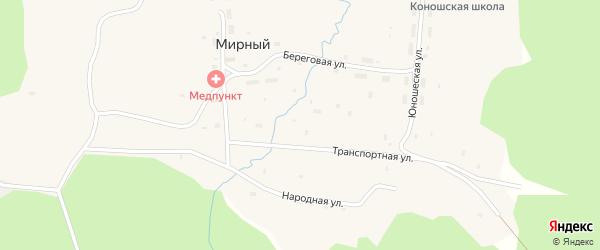 Народная улица на карте Мирного поселка с номерами домов