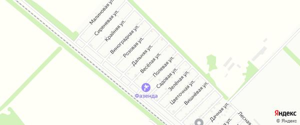Веселая улица на карте садового некоммерческого товарищества Птицевода с номерами домов