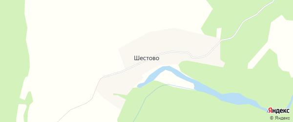 Карта деревни Шестово в Архангельской области с улицами и номерами домов