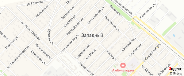 Улица Громова на карте Западного поселка с номерами домов