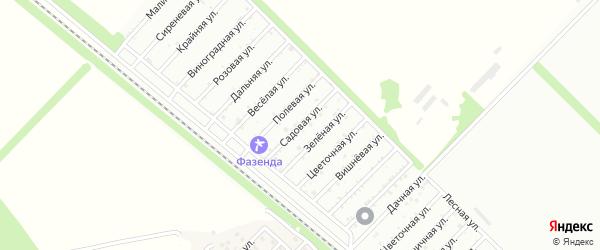Садовая улица на карте поселка ДНТ Коммунальника с номерами домов