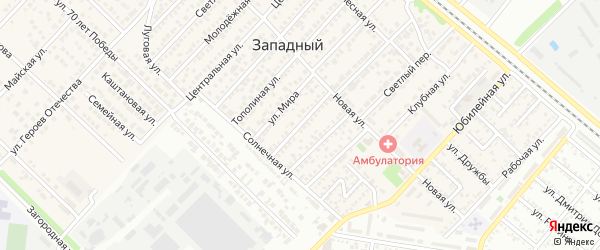 Улица Братьев Лоскутовых на карте Западного поселка с номерами домов