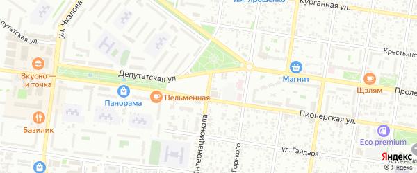 Курганная 3-я улица на карте Майкопа с номерами домов