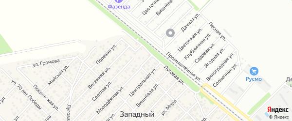 Фермерский переулок на карте Западного поселка с номерами домов
