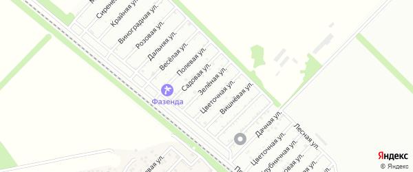 Зеленая улица на карте садового некоммерческого товарищества Красноречья с номерами домов
