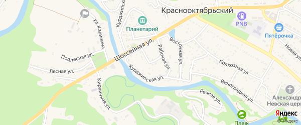Рабочий переулок на карте Краснооктябрьского поселка с номерами домов
