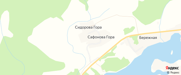 Карта деревни Горы в Архангельской области с улицами и номерами домов