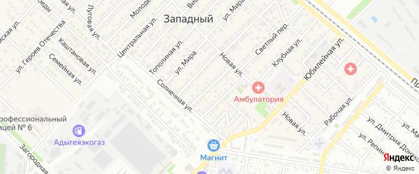 Улица 60 лет Советской Адыгеи на карте Западного поселка с номерами домов