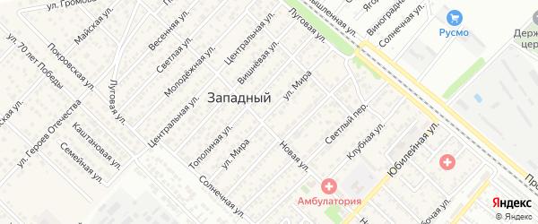 Улица Мира на карте Западного поселка с номерами домов