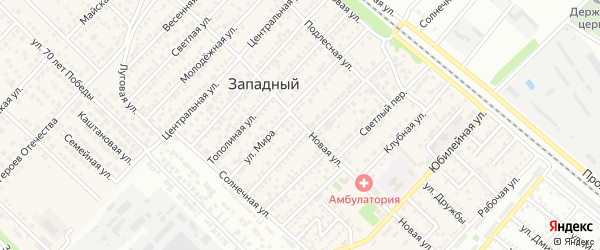 Новая улица на карте Западного поселка с номерами домов