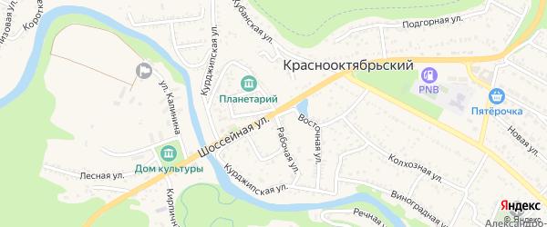 Рабочая улица на карте Краснооктябрьского поселка с номерами домов
