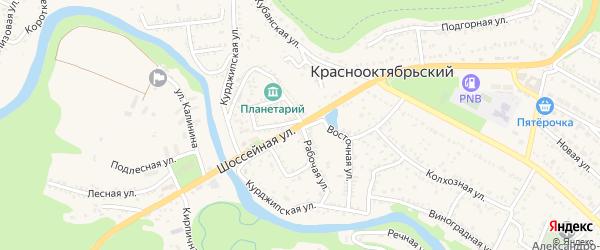 Рабочая улица на карте хутора Веселый (Абадзехское с/п) с номерами домов