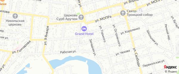 Западная улица на карте Майкопа с номерами домов