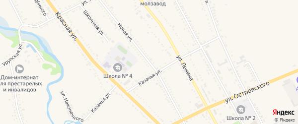 Новая улица на карте Гиагинской станицы с номерами домов