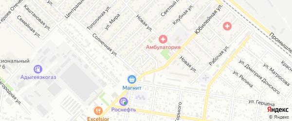 Молодежный переулок на карте Майкопа с номерами домов