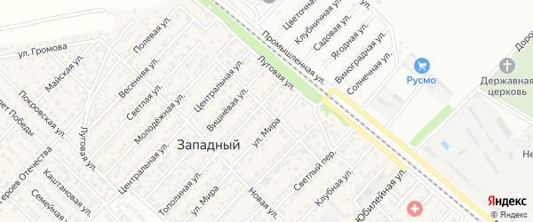 Подлесная улица на карте Западного поселка с номерами домов
