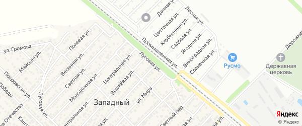Луговая улица на карте поселка ДНТ Коммунальника с номерами домов